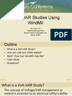 Volt VAR Studies Using WindMil - Jim Cross
