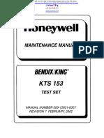 KTS 153 Maintenance Manual