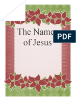 Names of Jesus notebook cover page