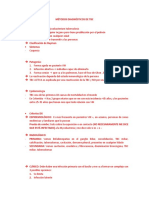 MÉTODOS DIAGNÓSTICOS DE TUBERCULOSIS