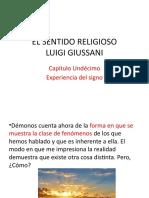 EL SENTIDO RELIGIOSO. Cap. 11 La experiencia del signo.pptx