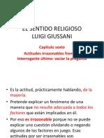 EL SENTIDO RELIGIOSO. Cap. 6 Actitudes irrazonables.pptx