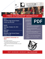 Citizenship Workshop Flyer Oct 26 English