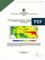 Posibles efectos naturales y socioeconómicos del fenómeno del Niño e el periodo 1997-1998 en Colombia