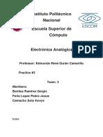 Práctica 3 Electrónica Analógica.