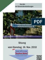 Eslarner Gemeinderatssitzung vom 16.11.2010