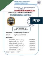 Informe Cantera Millpo-Huancacelica.(UNH-INGENIERIA CIVIL)