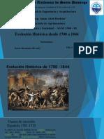 Evolusion Historica 1700 a 1843