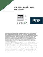 Wireless digital home security alarm system manual español.pdf