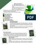 Biomas en Guatemala