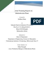 Industrial Training Report on Maltodextrin Plant