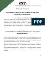Resolucao No 09 -- 2010 - Regulamenta o Inquerito Civil