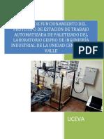 Manual de Funcionamiento Del Prototipo de Estación de Trabajo Automatizada de Paletizado Del Laboratorio Geipro de Ingeniería Industrial de La Unidad Central de Valle. v6.