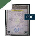 Certificado y Otros