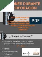 cemento petrolero presiones