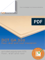 DCT GA 300 Floor Wall and Roof Insulation Brochure