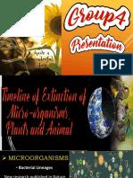 TIMELINE of Extinction