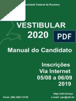 Manual Do Candidato - Vestibular 2020
