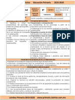 Octubre - 6to Grado Español (2019-2020)