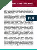 Nuevo Perú sobre la actual crisis política