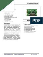 RFM110W-RFM117W V2.0