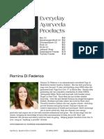 Everyday Ayurveda Products -Romina