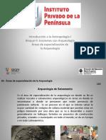 (8) Areas de Arqueologia