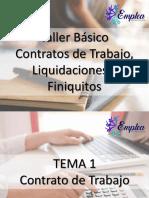 Presentación Taller de Liquidaciones y Finiquitos