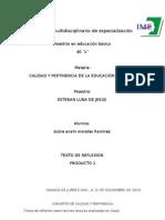 TEXTO DE REFLEXIÓN SOBRE TRES LECTURAS