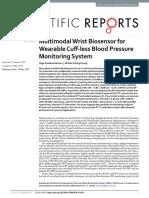 Multimodal Wrist Biosensor for Wearable Cuff-less