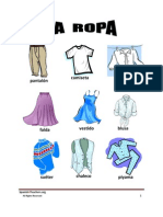 Lista Vocabulario Ropa Vocab List Clothes Spanish