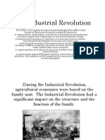 Notes the Industrial Revolution