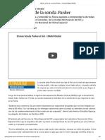 Misión Al Sol de La Sonda Parker – Gaceta Digital UNAM (1)