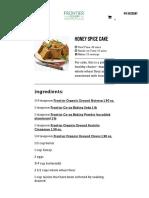 Honey Spice Cake Recipe _ Frontier Co-op