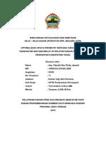 Rancangan Aktualisasi Drg. Claudia Fix
