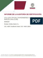 Ejemplo Informe de Auditoria calidad