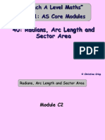 40 Radians, Arc Length and Sector Area