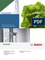 Bosch Refrigerator Manual