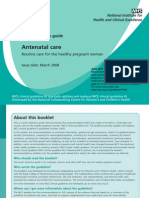 Quick Guide - Antenatal Care NHS
