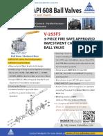 Api607 Api608 Ball Valves v255fs