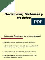 Clase 1 - Decision, Sistemas y Modelos.ppt
