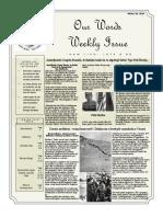 Newsletter Volume 10 Issue 34