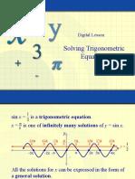 Solve Trig Equations