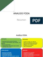 Análisis FODA Resumen