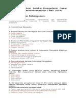 100 Contoh Soal Seleksi Kompetensi Dasar