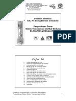 AK3E2 - 1 Pengetahuan Dasar Sistim Transportasi Gedung Ele Esk