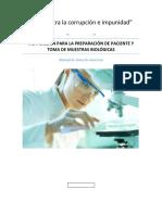 Instrucciones Para La Preparacion Del Paciente y Toma de Muestras