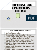 Purchase of Inventory Items
