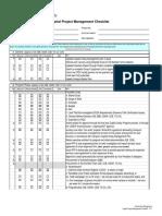 Ppr Capital Project Management Checklist