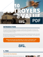 Top 10 Destroyers of Value – the Strategic CFO